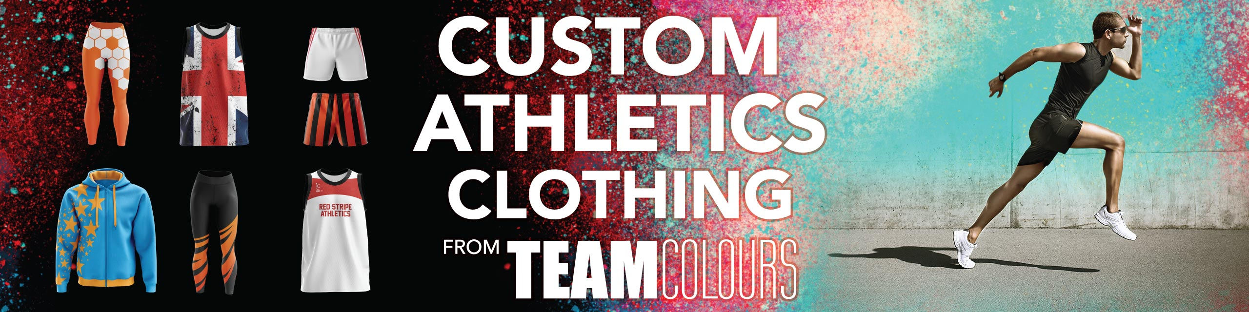 Design you own athletics clothing at Team Colours