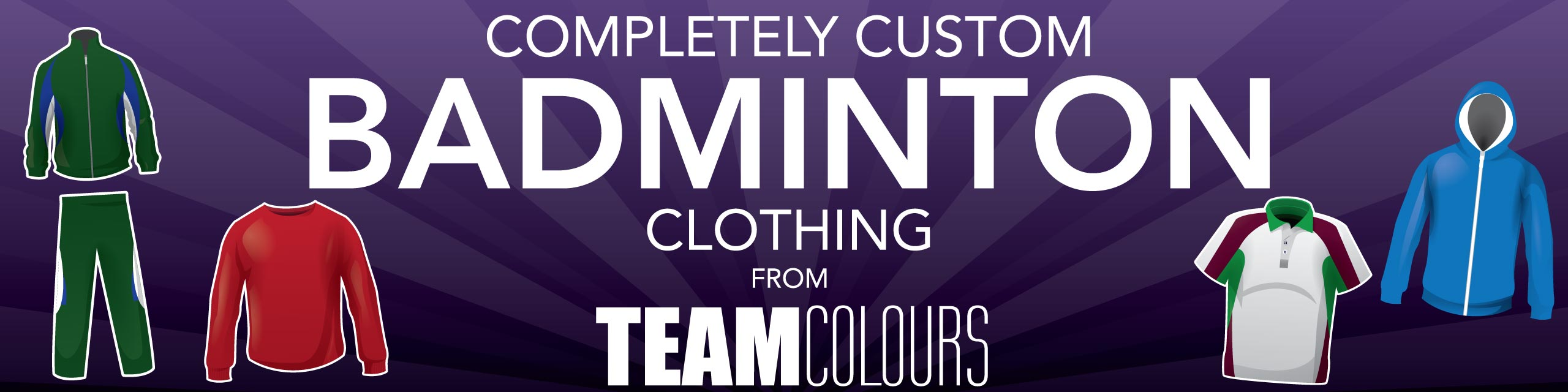 Design you own badminton kits at Team Colours
