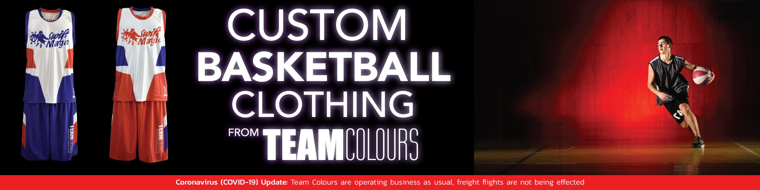 Design you own basketball clothing at Team Colours