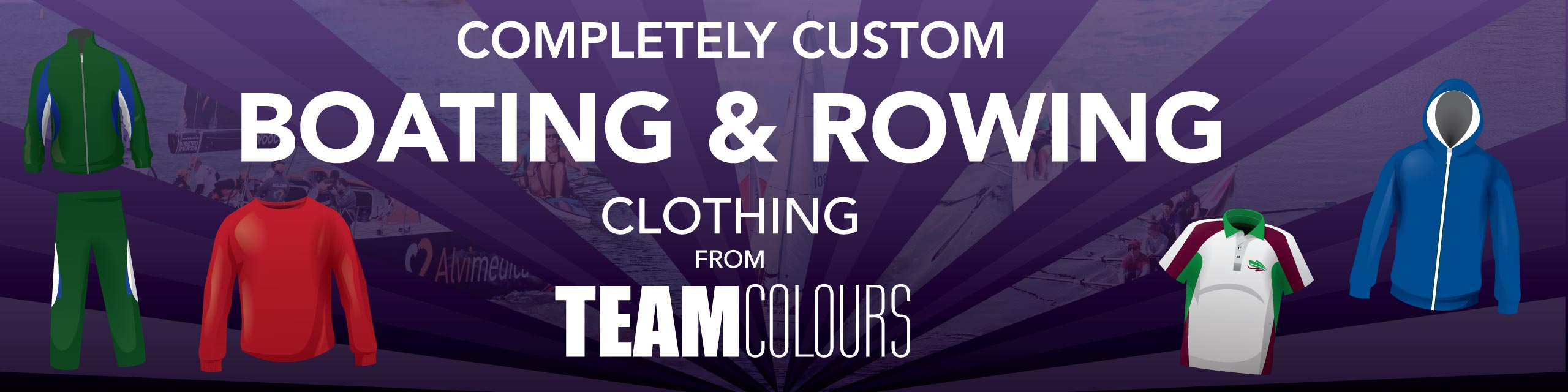 Design you own boating clothing at Team Colours