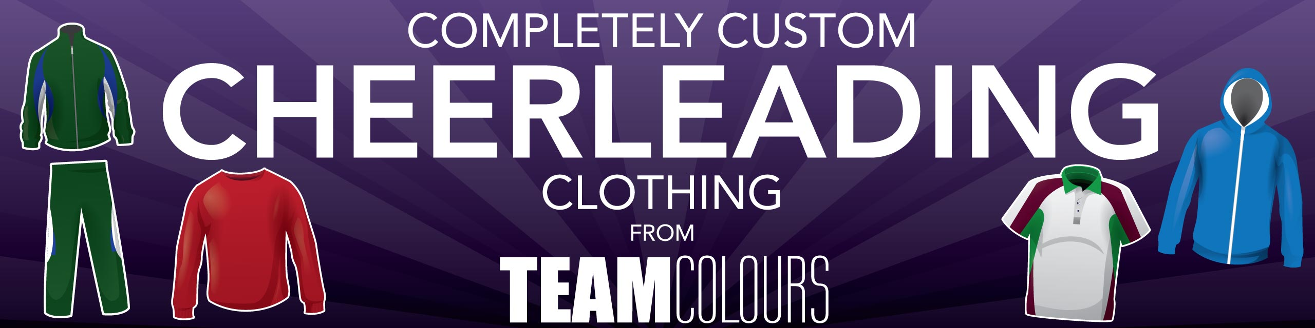 Design you own cheerleading clothing at Team Colours