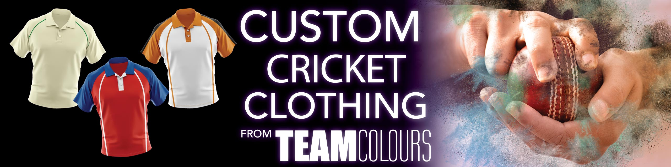 Design you own cricket clothing at Team Colours