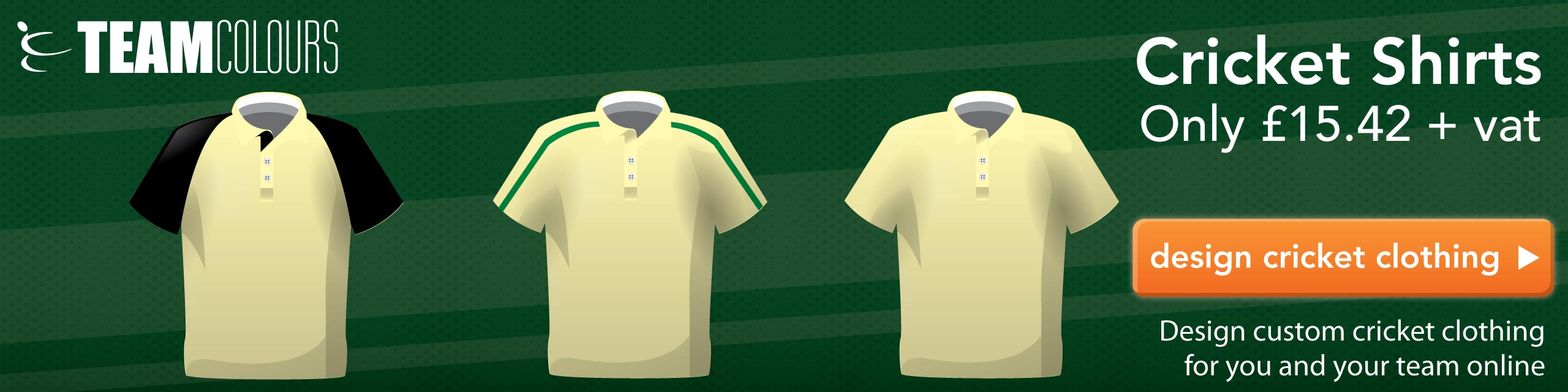 Design you own cricket shirts and trousers at Team Colours
