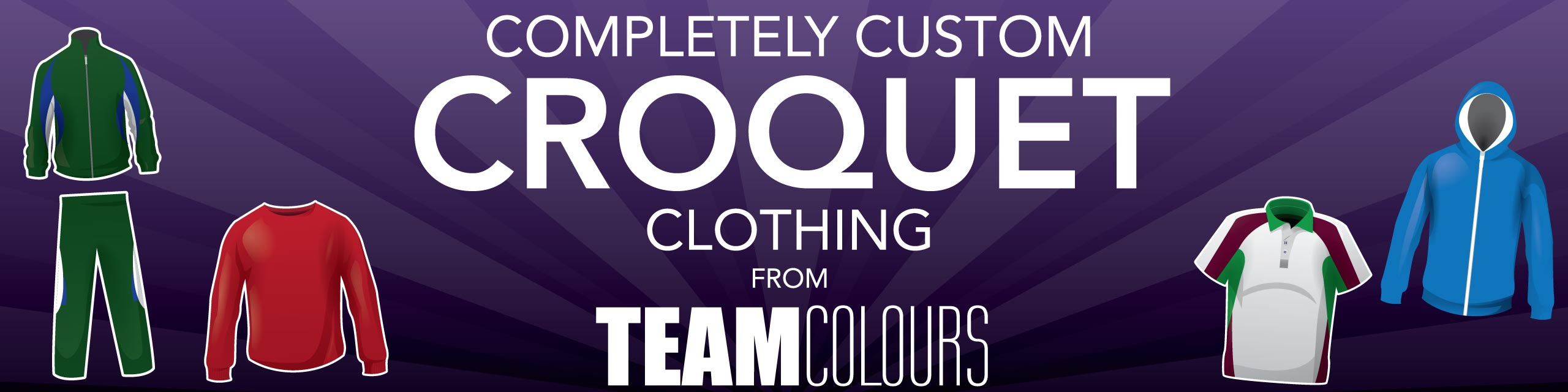 Design you own croquet clothing at Team Colours