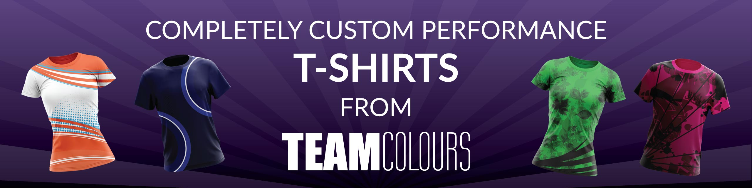 Design you own performance t-shirts at Team Colours