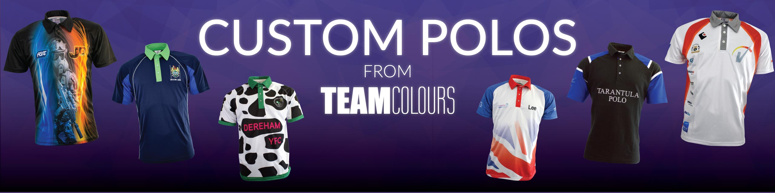 Design you own polo shirts at Team Colours