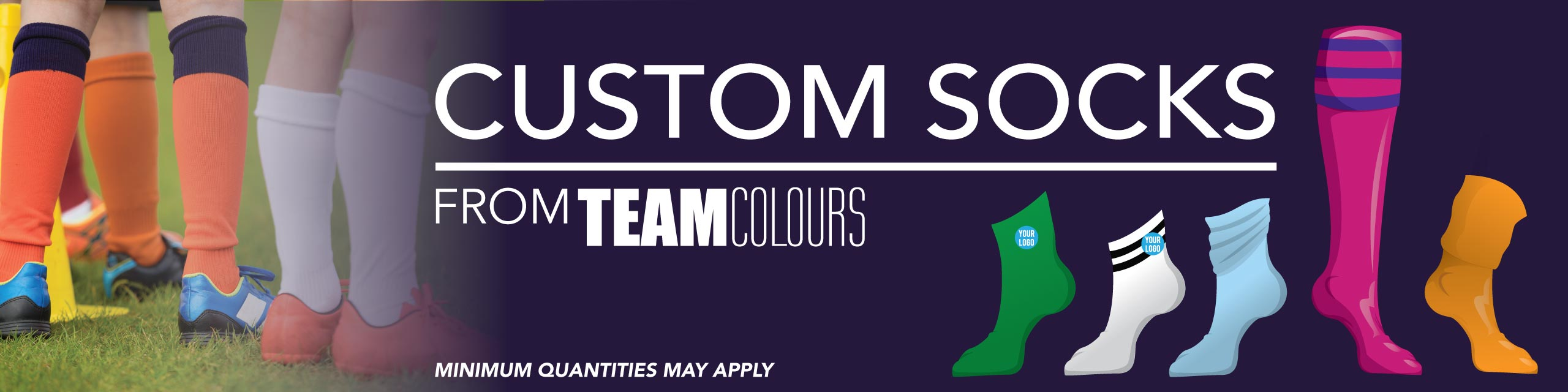 Design your own custom socks online at Team Colours