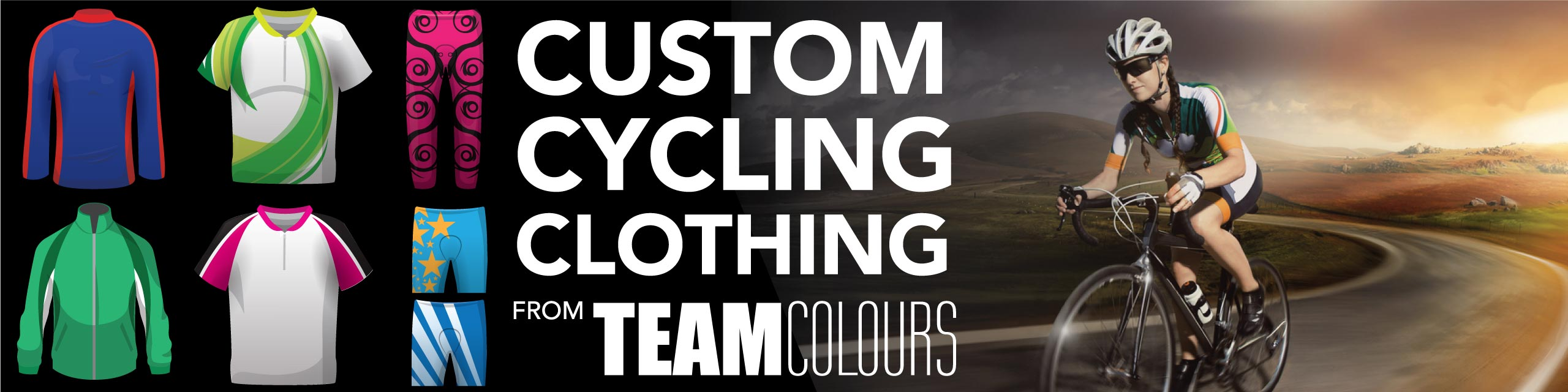 Design you own cycling and bicycle clothing at Team Colours