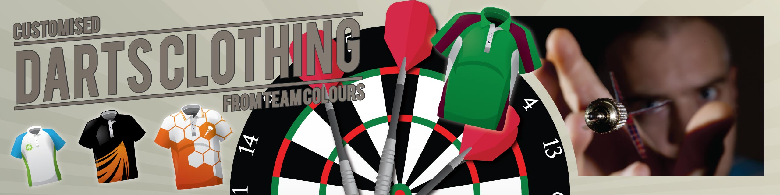 Design you own darts clothing at Team Colours