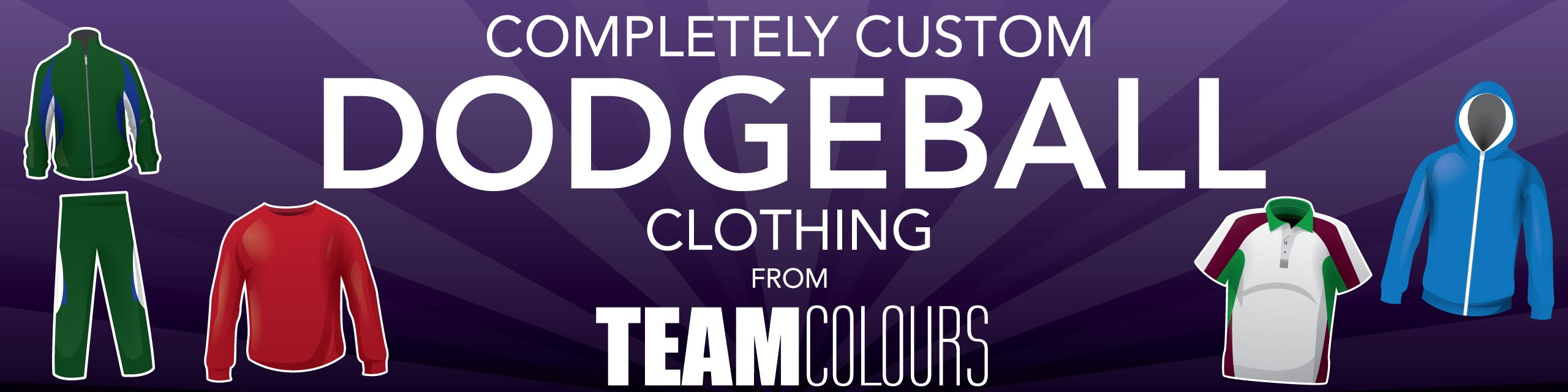 Design you own dodgeball clothing at Team Colours