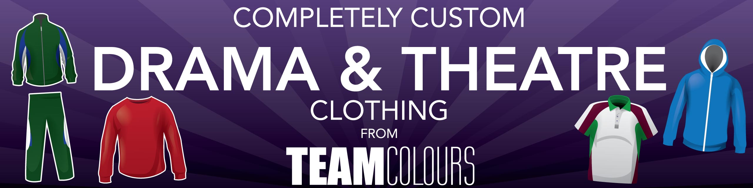 Design you own drama and theatre clothing at Team Colours