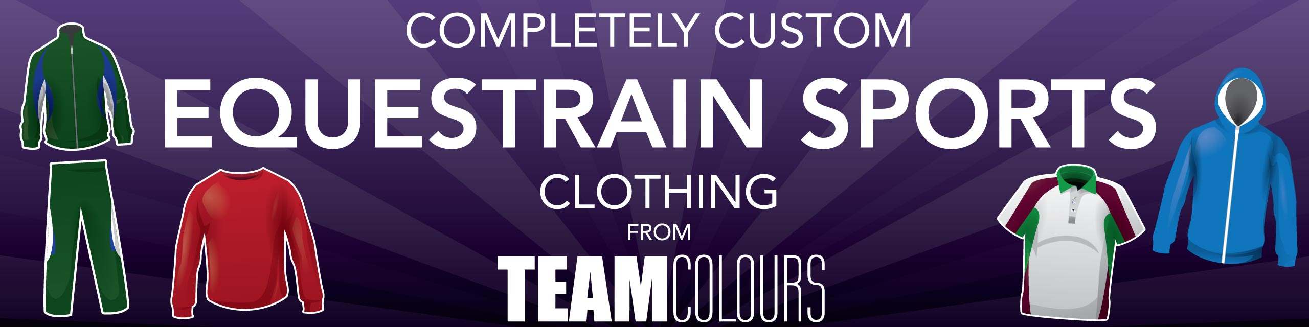 Design you own equestrian sports clothing at Team Colours