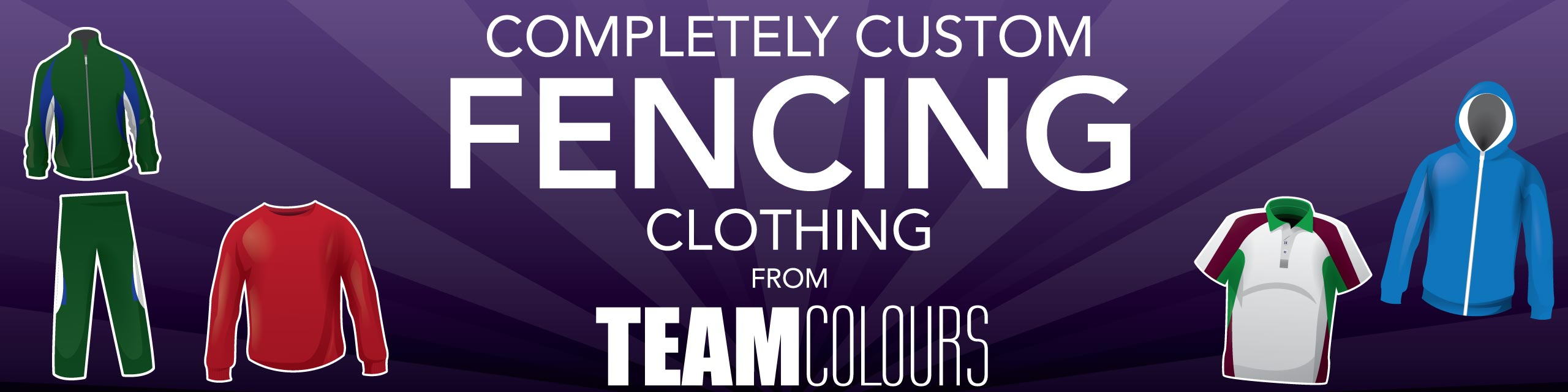 Design you own fencing clothing at Team Colours