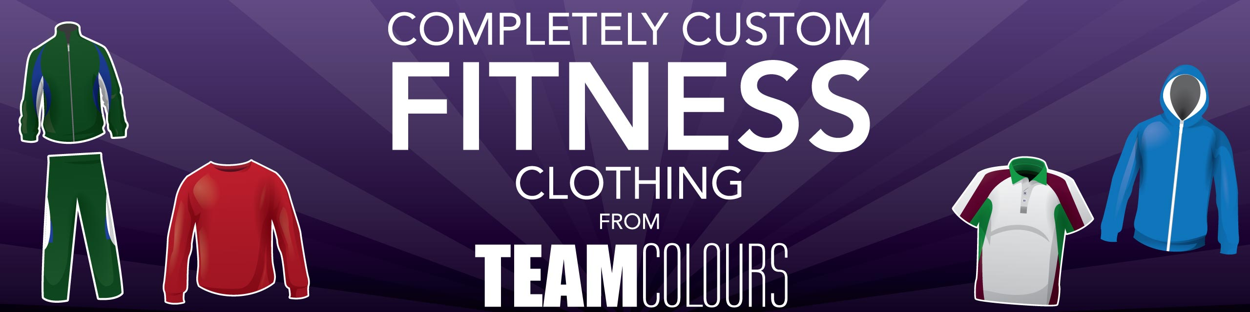 Design you own fitness clothing at Team Colours