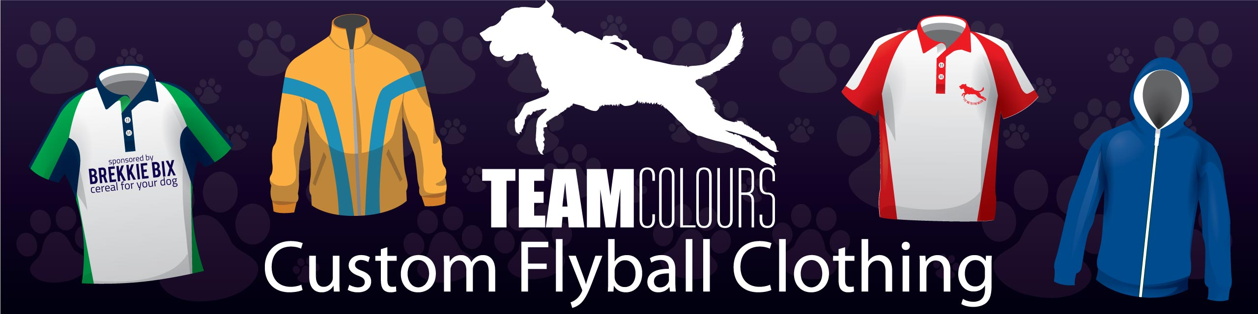 Design you own flyball kits at Team Colours