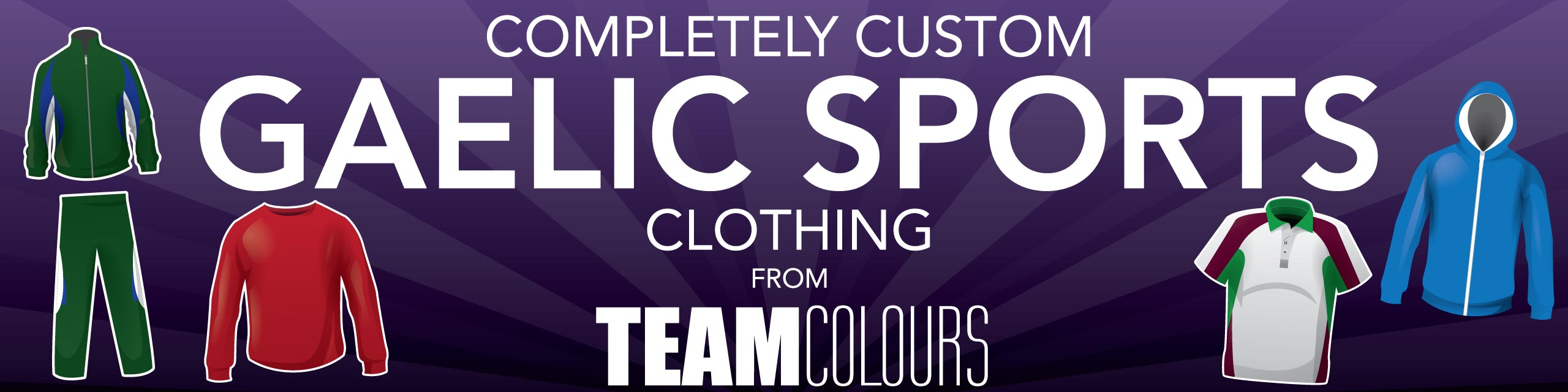 Design you own gaelic sports clothing at Team Colours