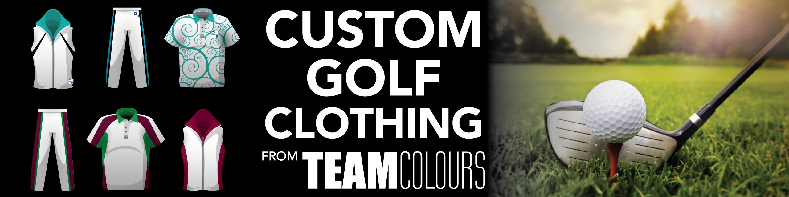 Design you own golf clothing at Team Colours