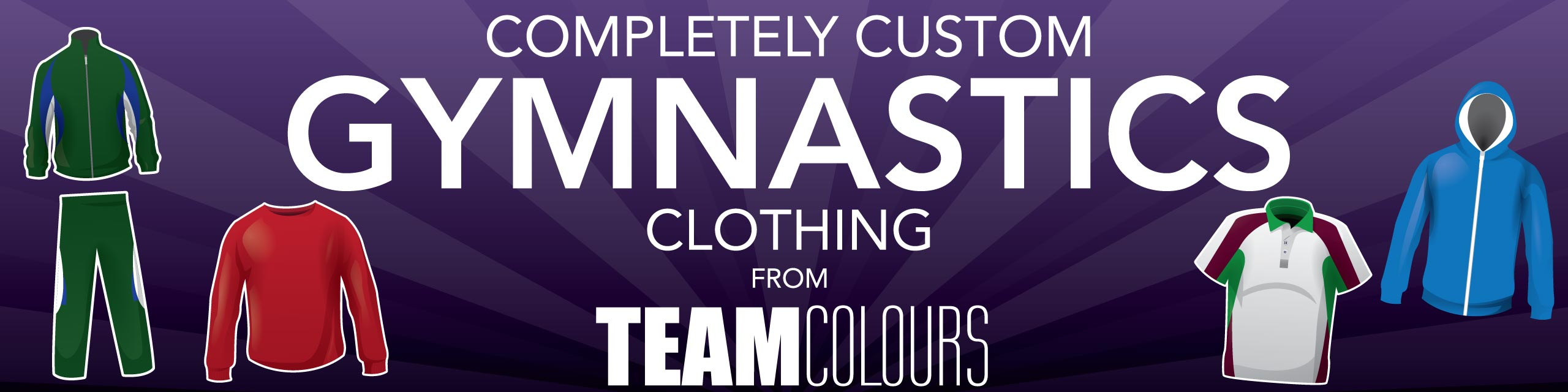 Design you own gymnastics clothing at Team Colours