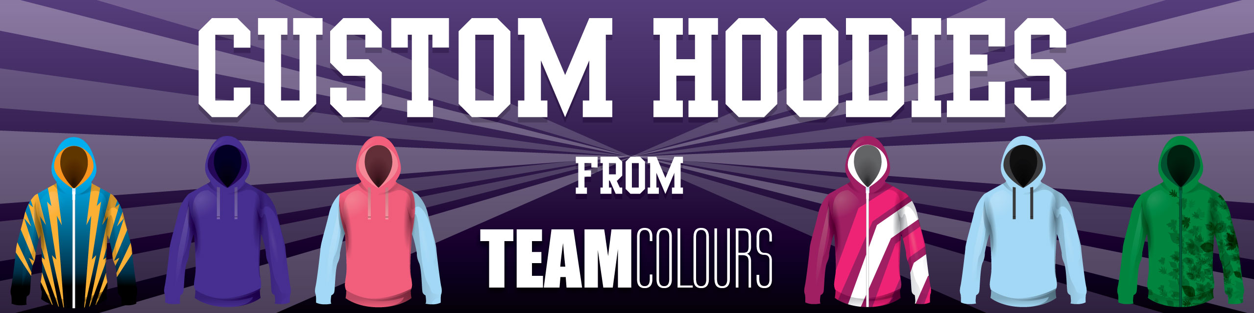 Design you own custom made hoodies at Team Colours