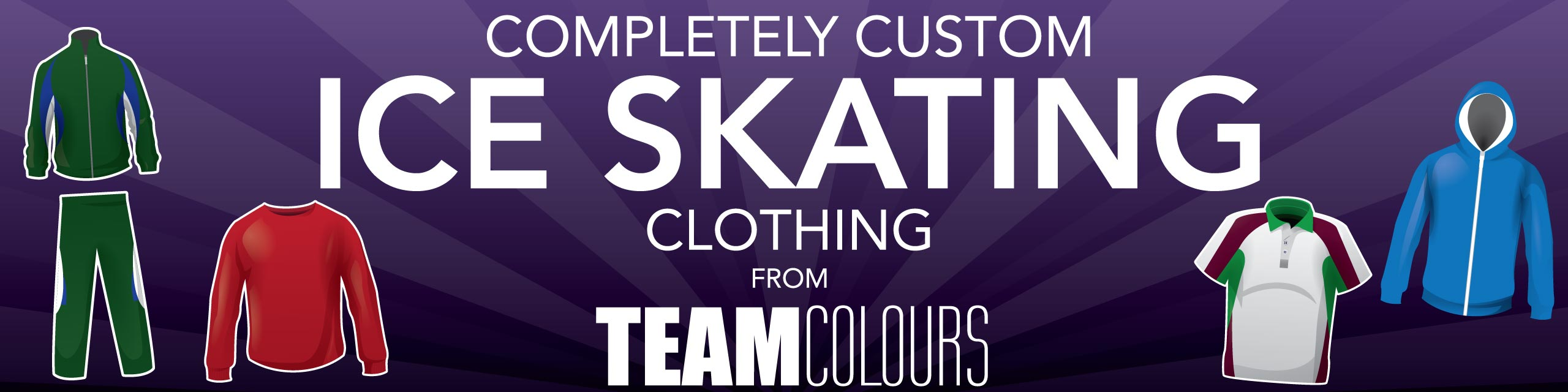 Design you own ice skating clothing at Team Colours