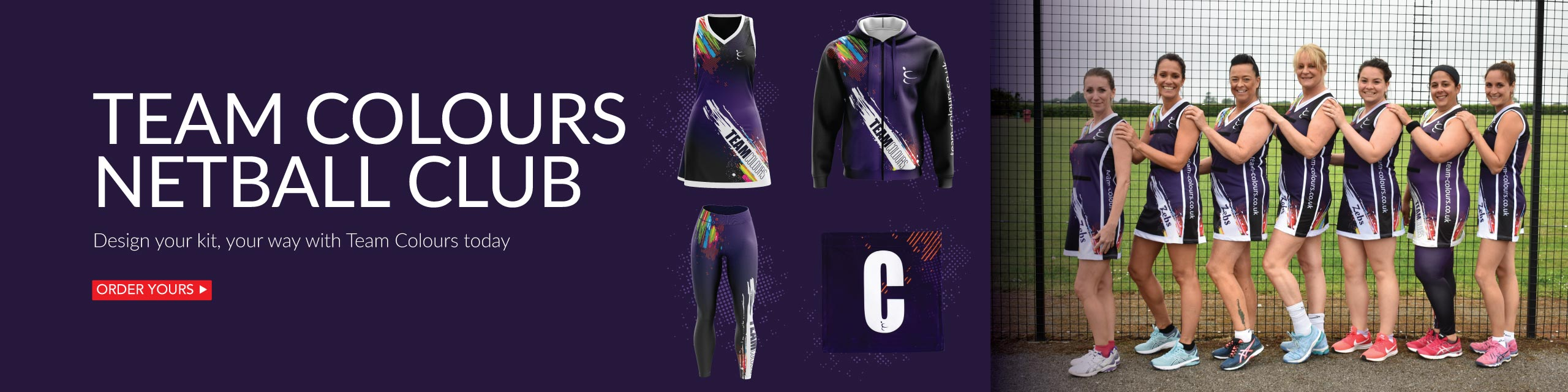 Design your own netball kits