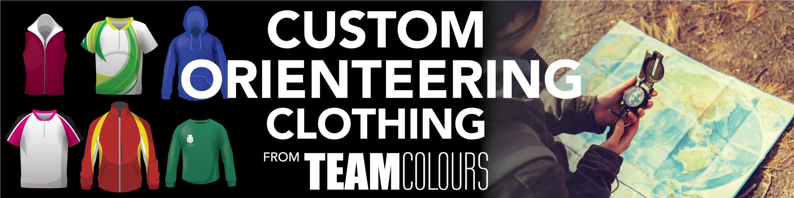 Design you own orienteering clothing at Team Colours