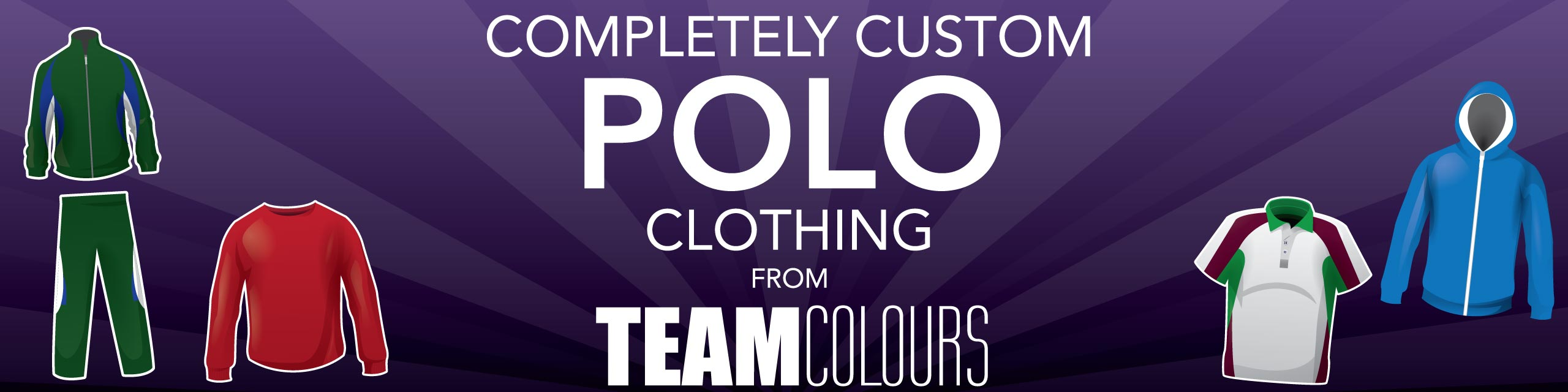 Design you own polo clothing at Team Colours