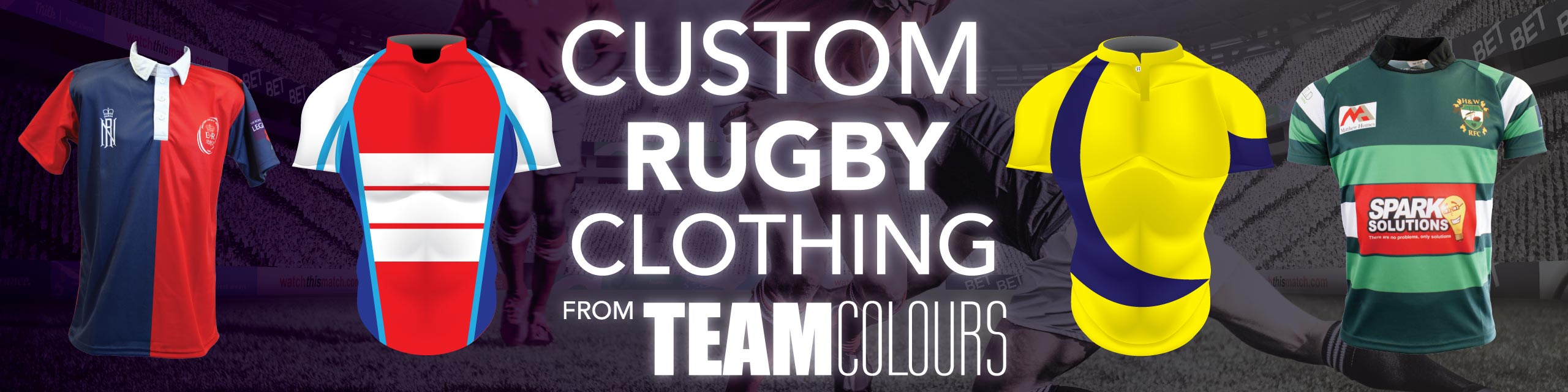 Design you own rugby kits at Team Colours