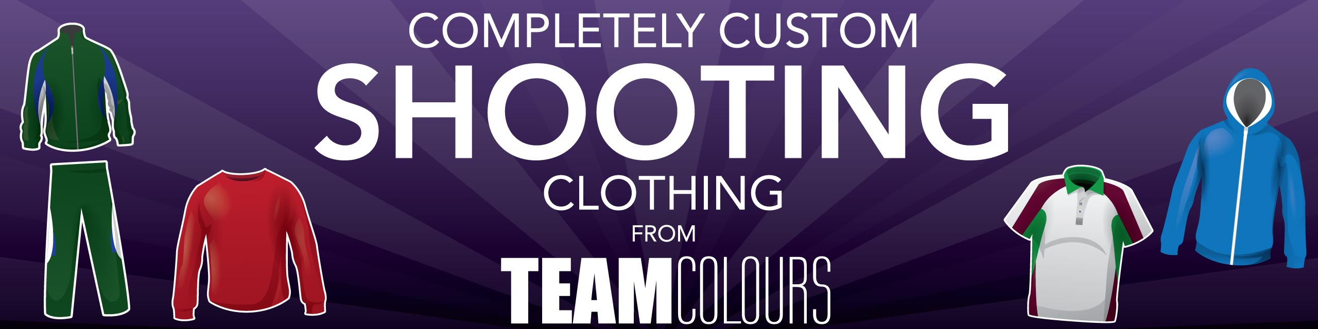 Design you own shooting clothing at Team Colours