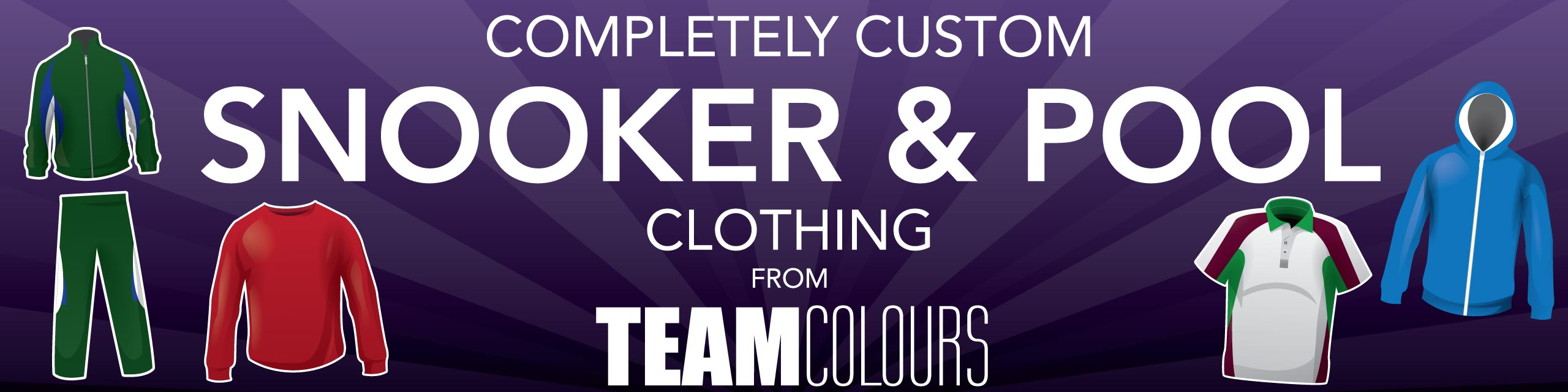 Design you own snooker and pool clothing at Team Colours