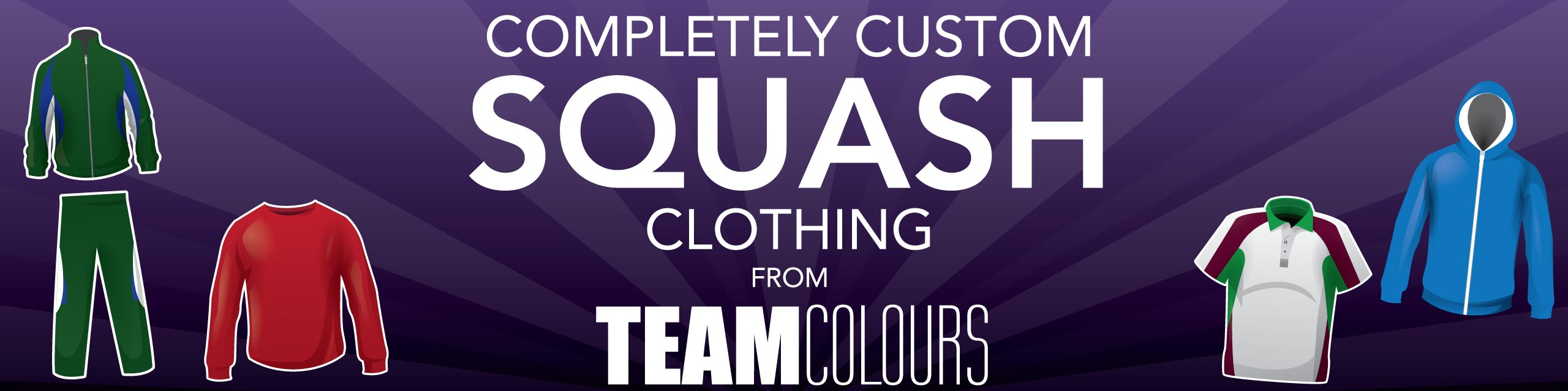 Design you own squash kits at Team Colours