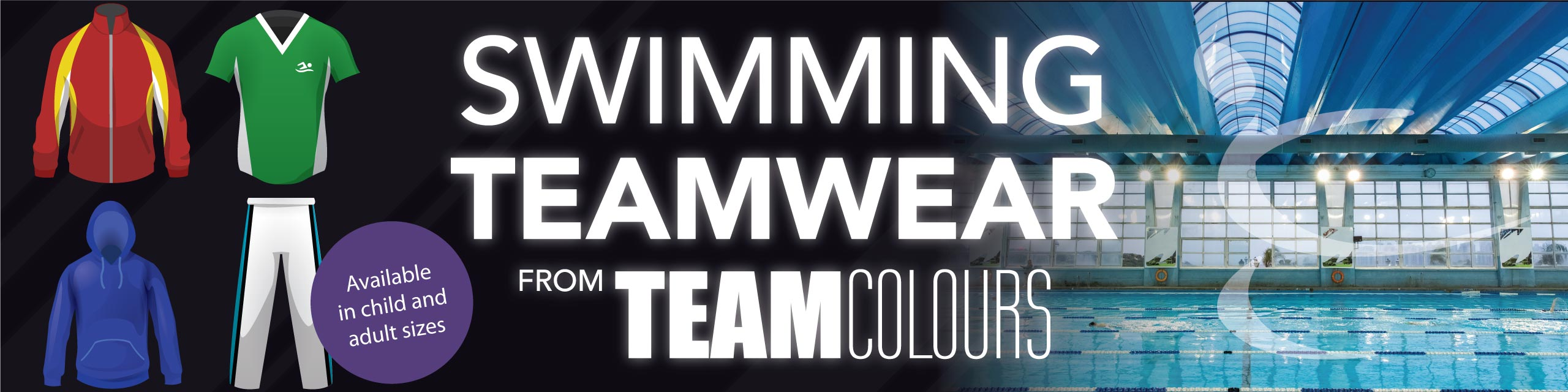 Design you own swimming clothing at Team Colours