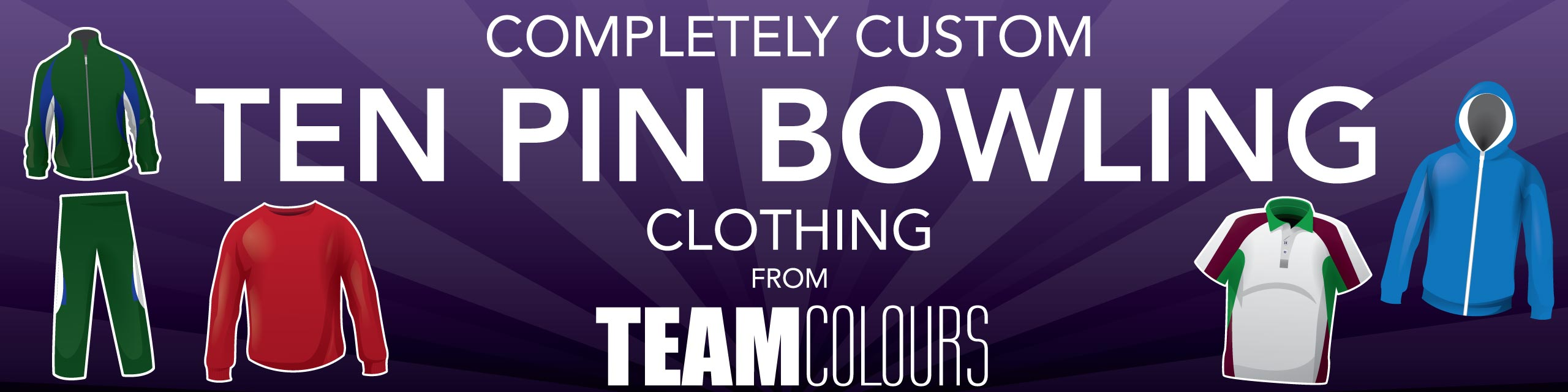 Design you own ten pin bowling clothing at Team Colours