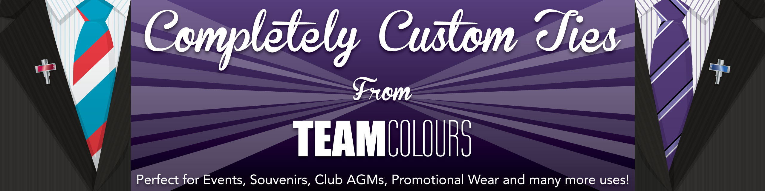 Design you own ties and neckwear at Team Colours