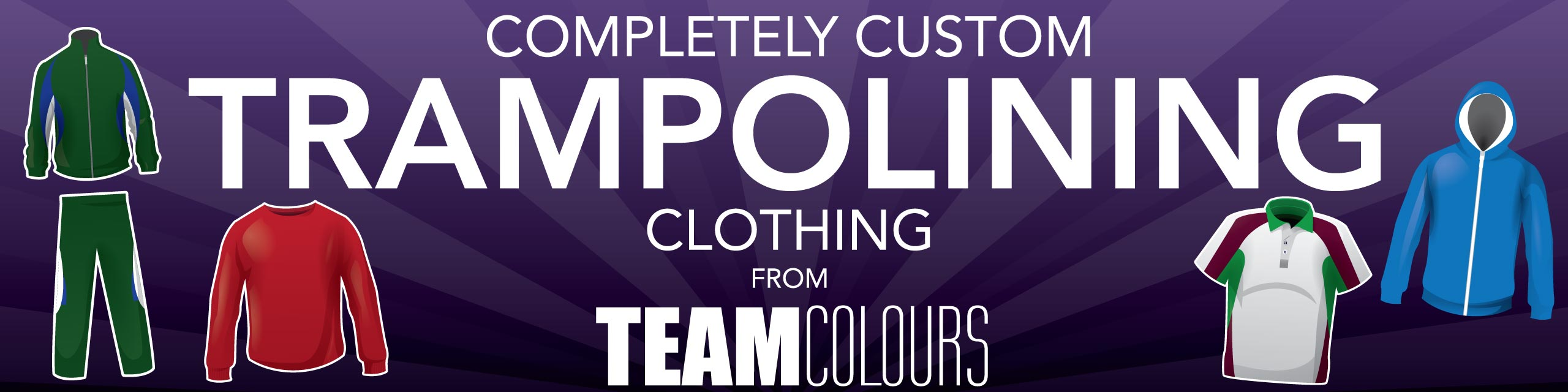 Design you own trampolining clothing at Team Colours