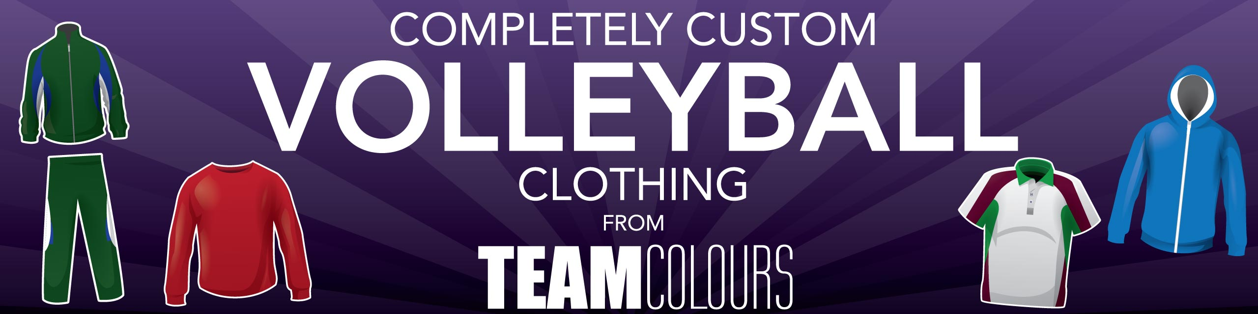 Design you own volleyball kits at Team Colours