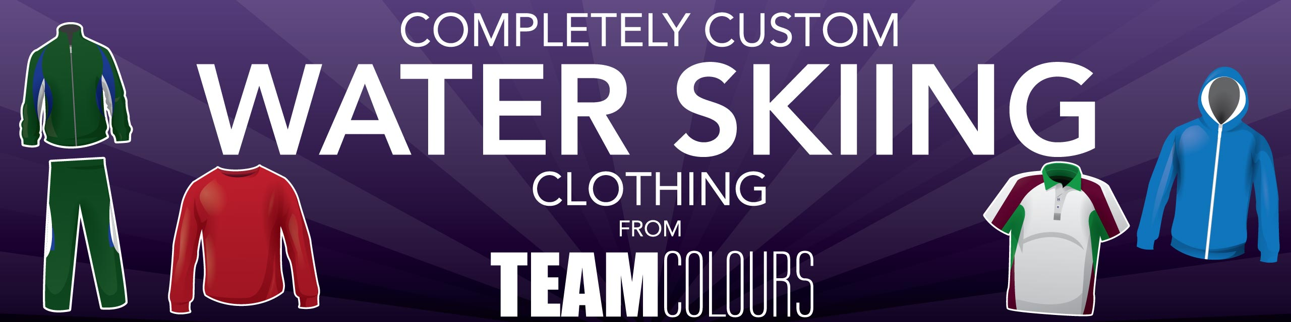 Design you own water skiing clothing at Team Colours