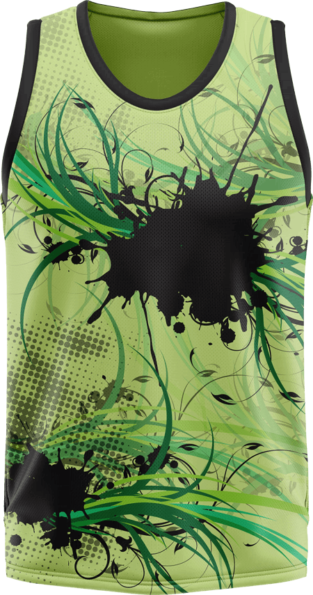 Floral Design Sublimated Basketball Jersey