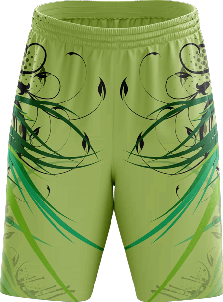 Floral Design Sublimated Basketball Shorts