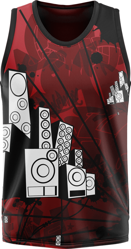 Graffiti Design Sublimated Basketball Jersey