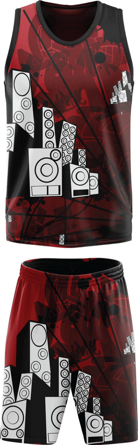 Graffiti Design Sublimated Basketball Kit