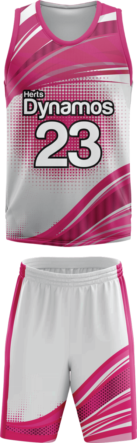 Stripes Design Sublimated Basketball Kit