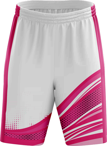 Stripes Design Sublimated Basketball Shorts