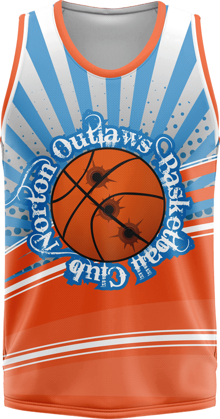 Two Half Design Sublimated Basketball Jersey