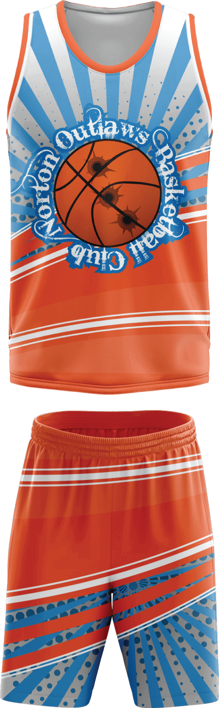 Two Half Design Sublimated Basketball Kit