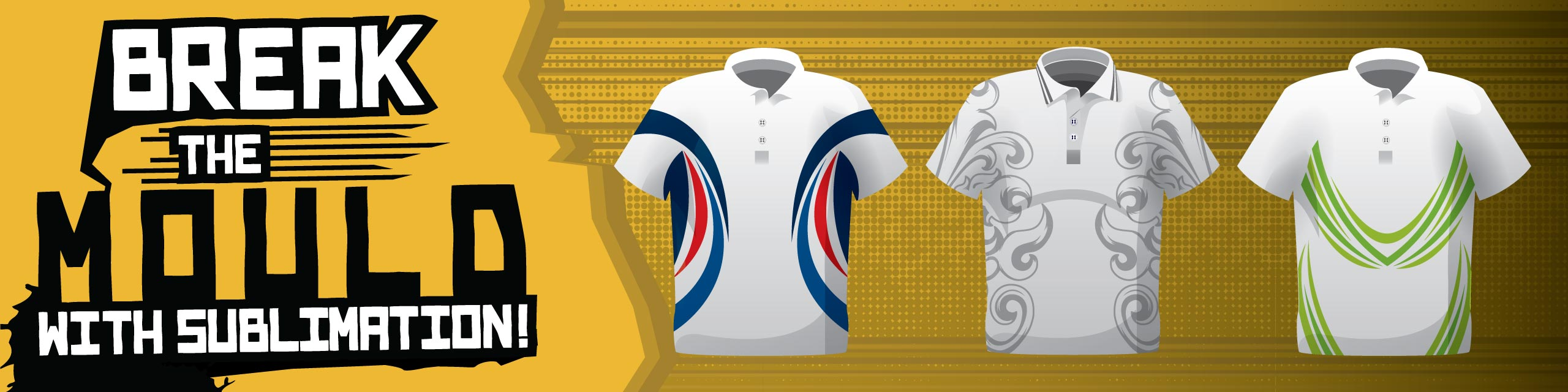 Design you own sublimated polo shirts at Team Colours