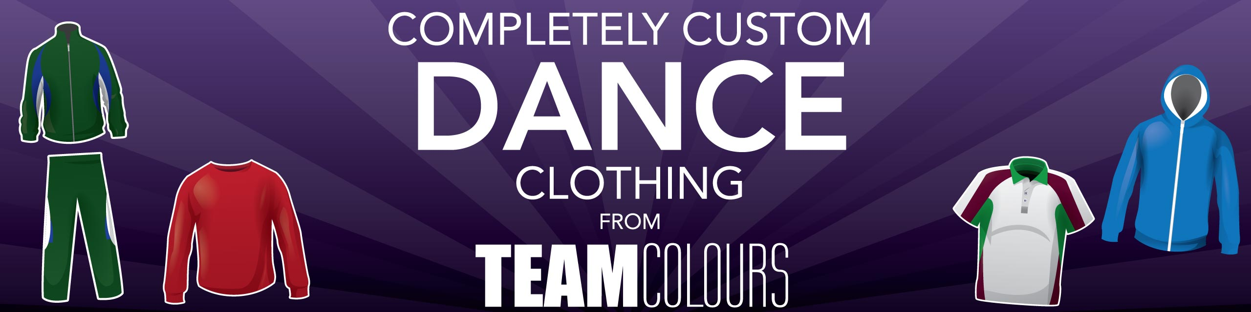 Design you own dance clothing at Team Colours