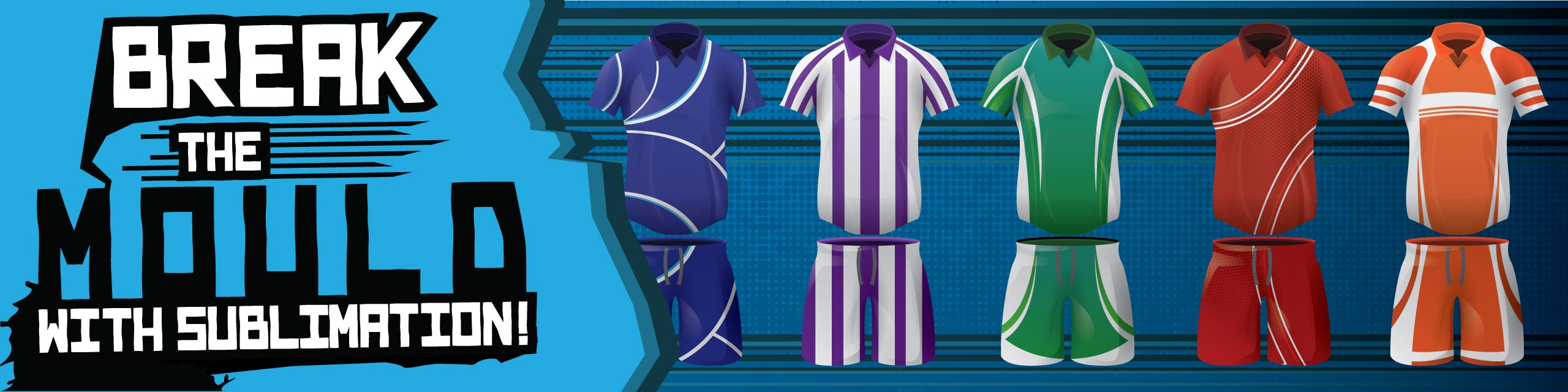 Design you own sublimated football kits at Team Colours