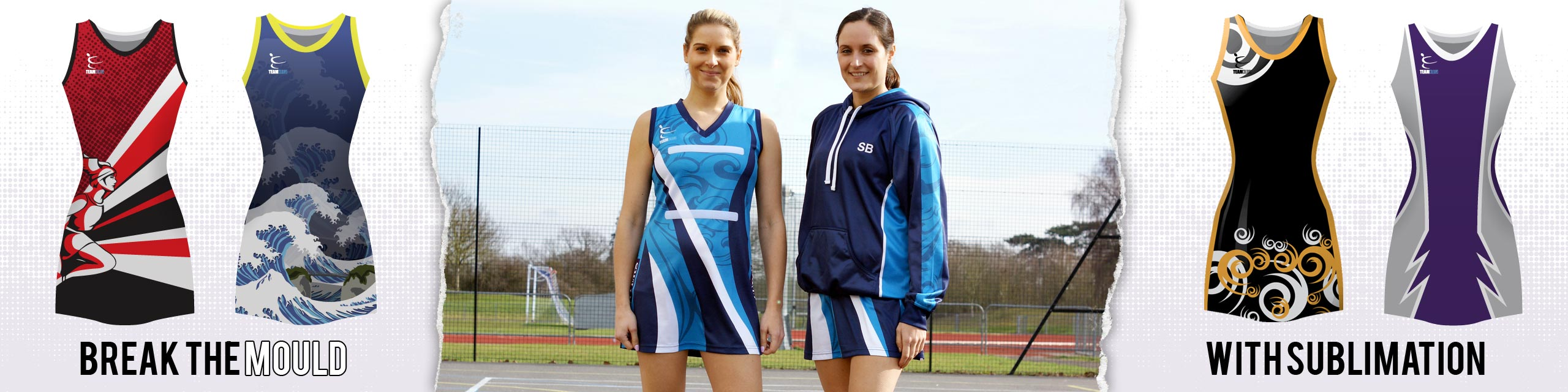 Design you own sublimated netball kits at Team Colours