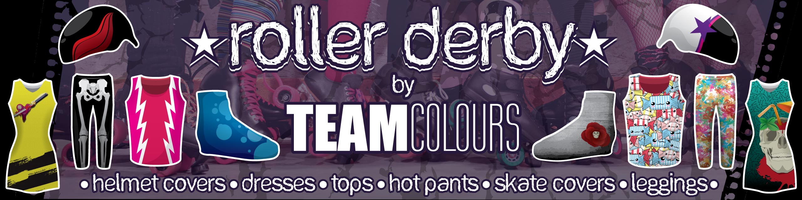 Design you own roller derby kits at Team Colours